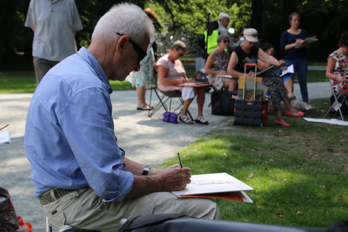 Tekenen en schilderen in het Middelheimpark augustus 2017